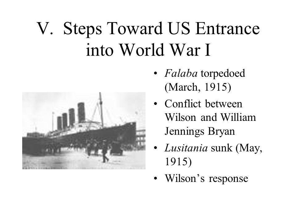 V. Steps Toward US Entrance into World War I