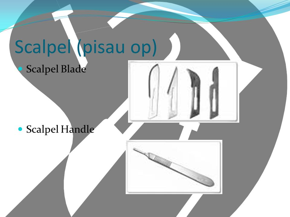 Scalpel (pisau op) Scalpel Blade Scalpel Handle