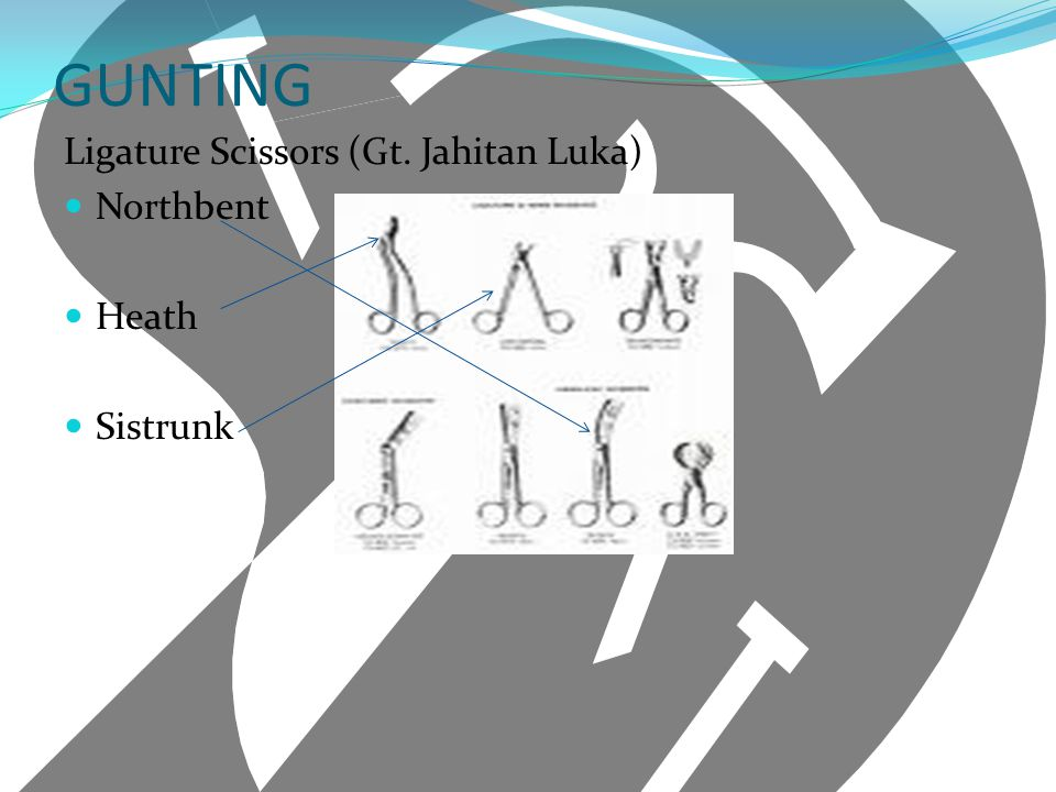 GUNTING Ligature Scissors (Gt. Jahitan Luka) Northbent Heath Sistrunk
