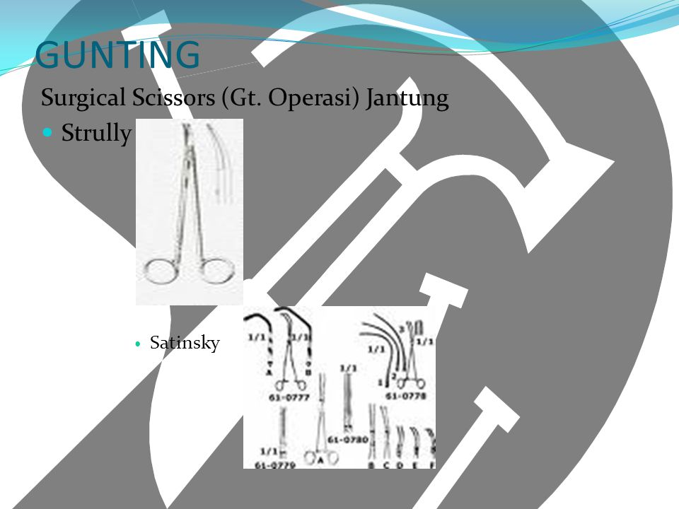 GUNTING Surgical Scissors (Gt. Operasi) Jantung Strully Satinsky