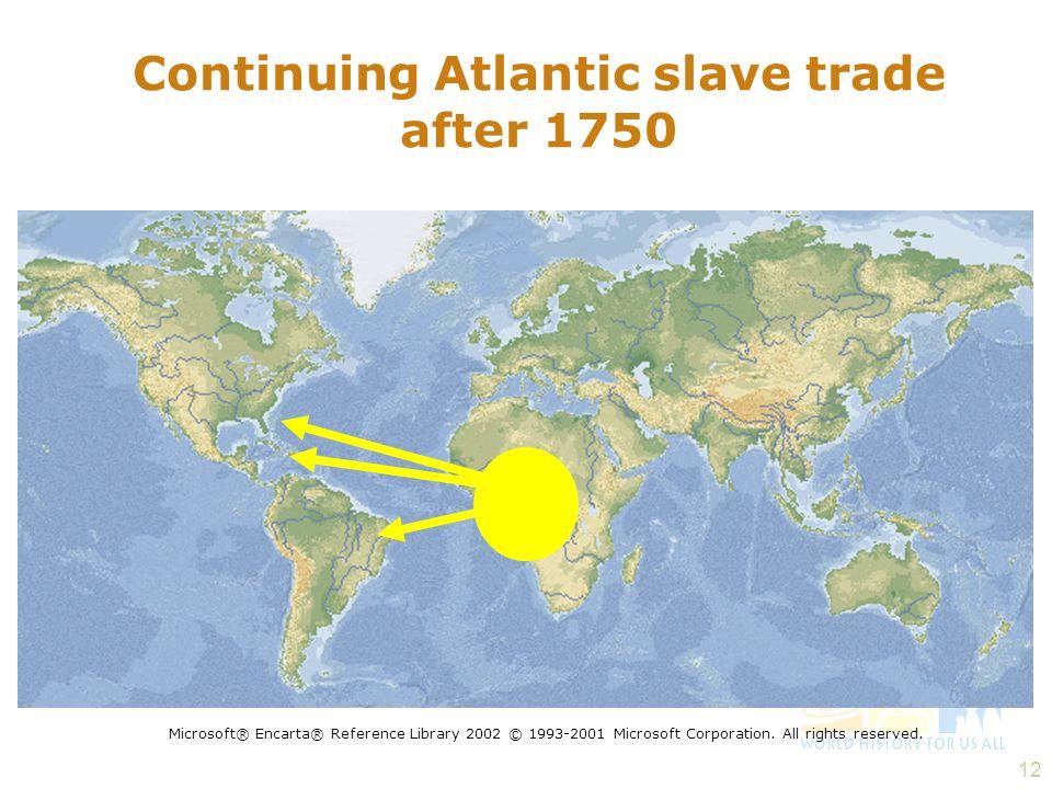 Continuing Atlantic slave trade