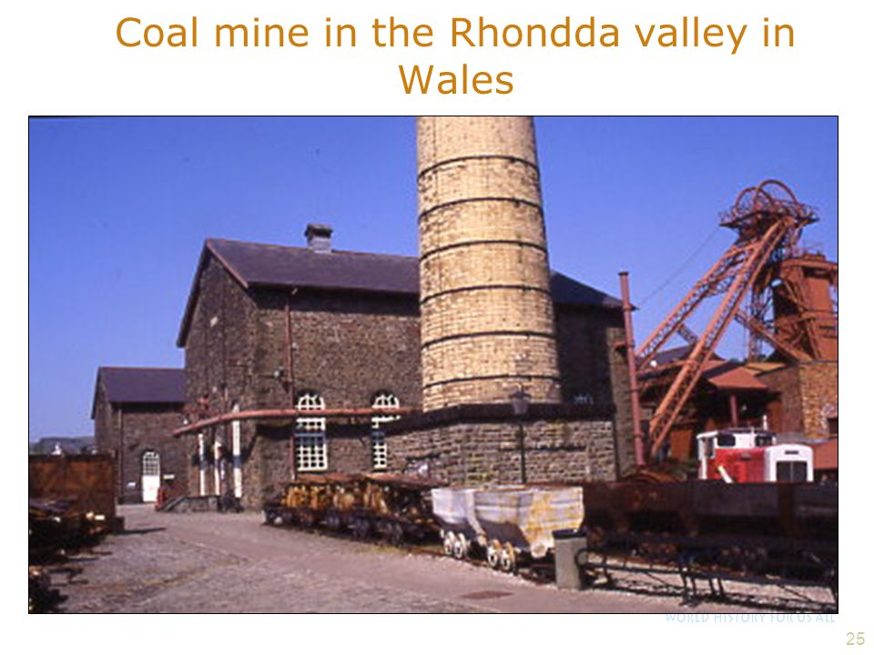 Coal mine in the Rhondda valley in Wales