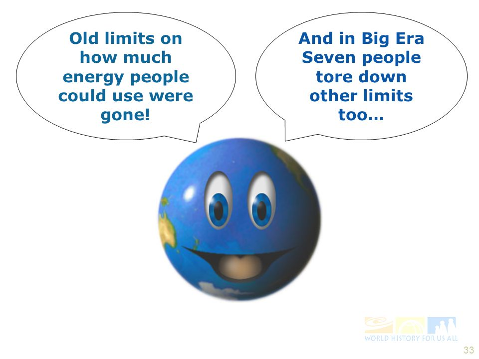 Old limits on how much energy people could use were gone!