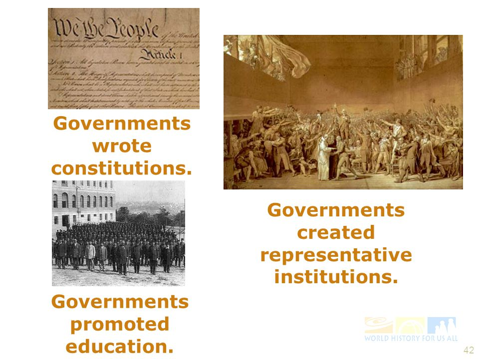 Governments wrote constitutions.