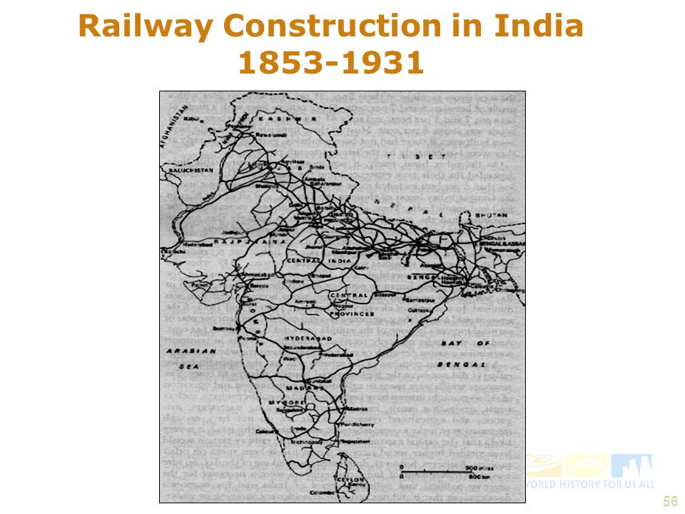 Railway Construction in India 1853-1931