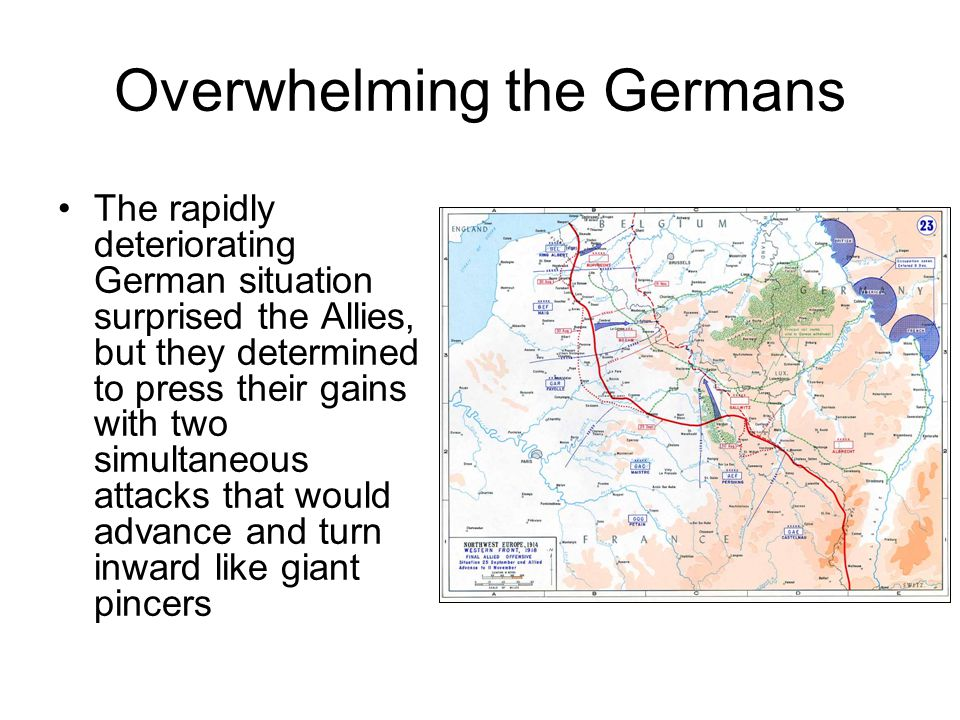 Overwhelming the Germans