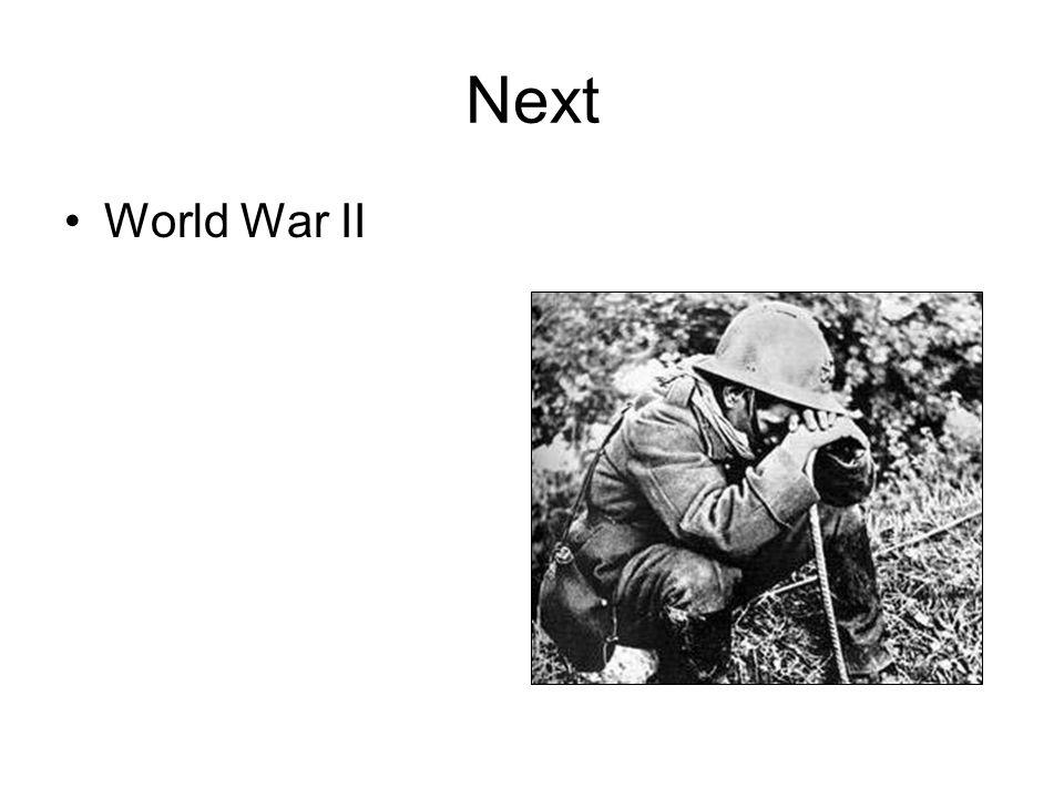 Next World War II