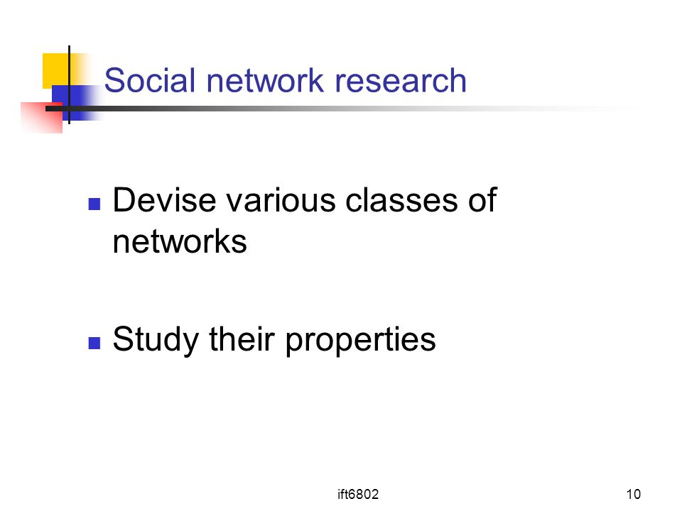 Social network research