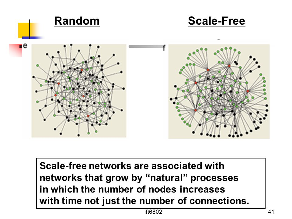 Random Scale-Free Scale-free networks are associated with