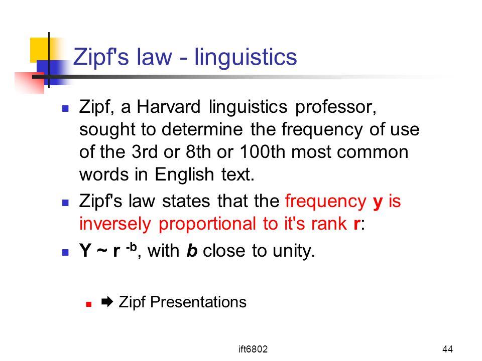 Zipf s law - linguistics