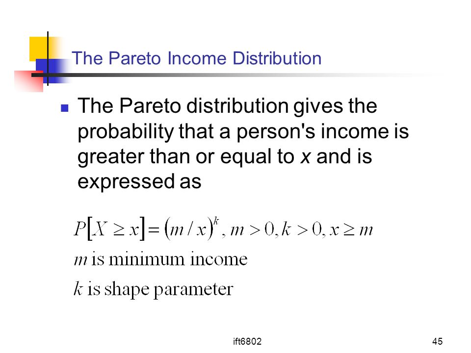 The Pareto Income Distribution