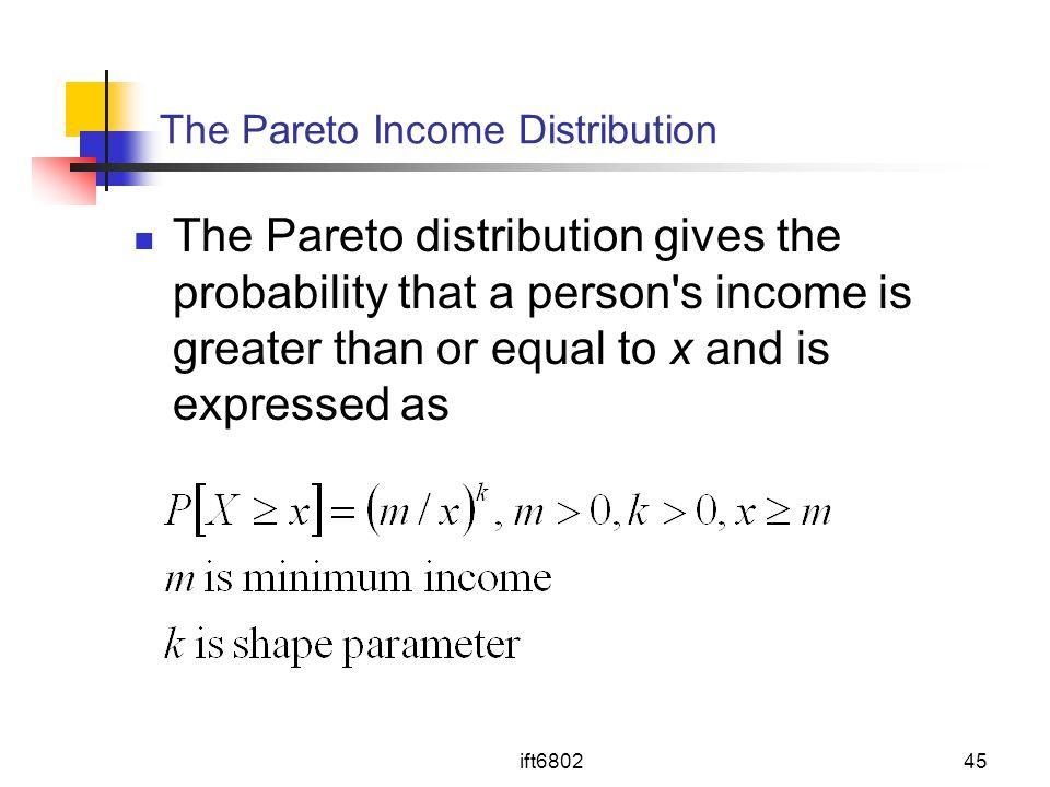 The Pareto Income Distribution