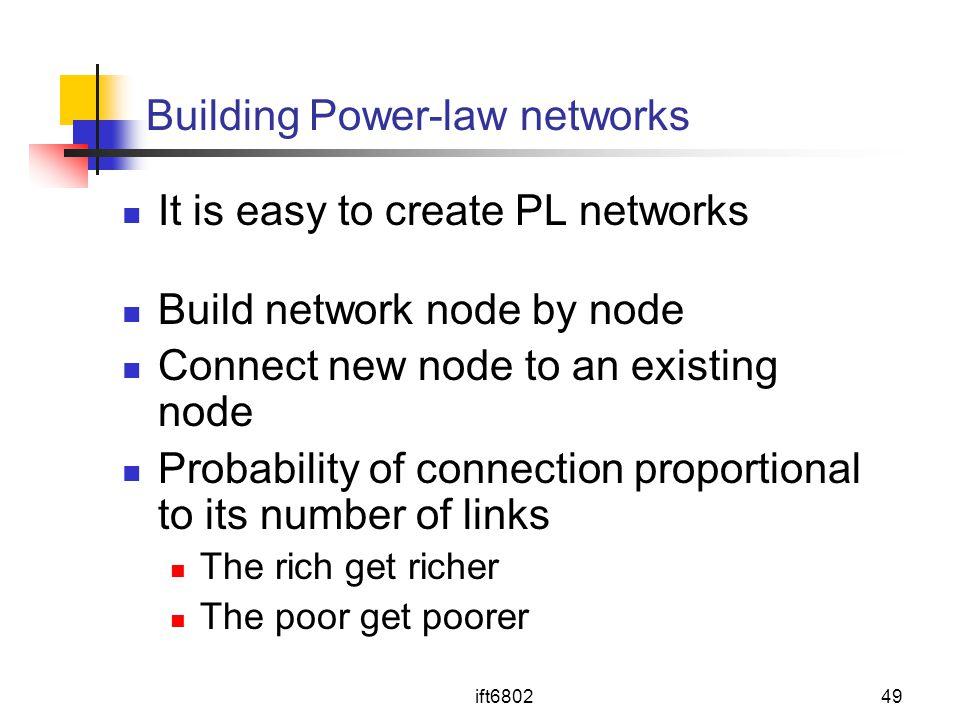 Building Power-law networks