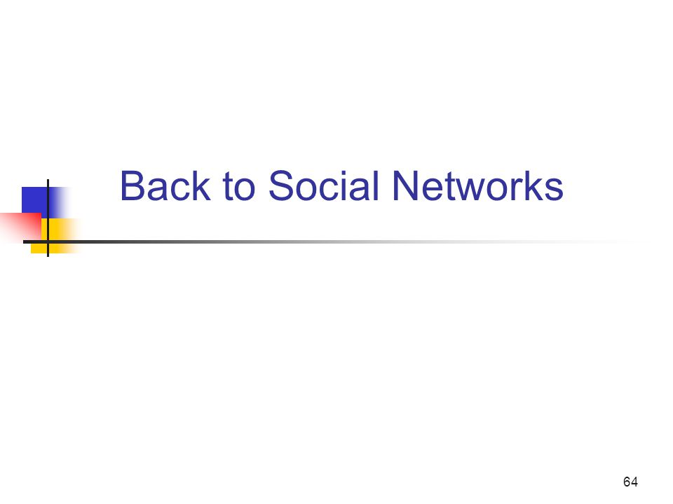 Back to Social Networks