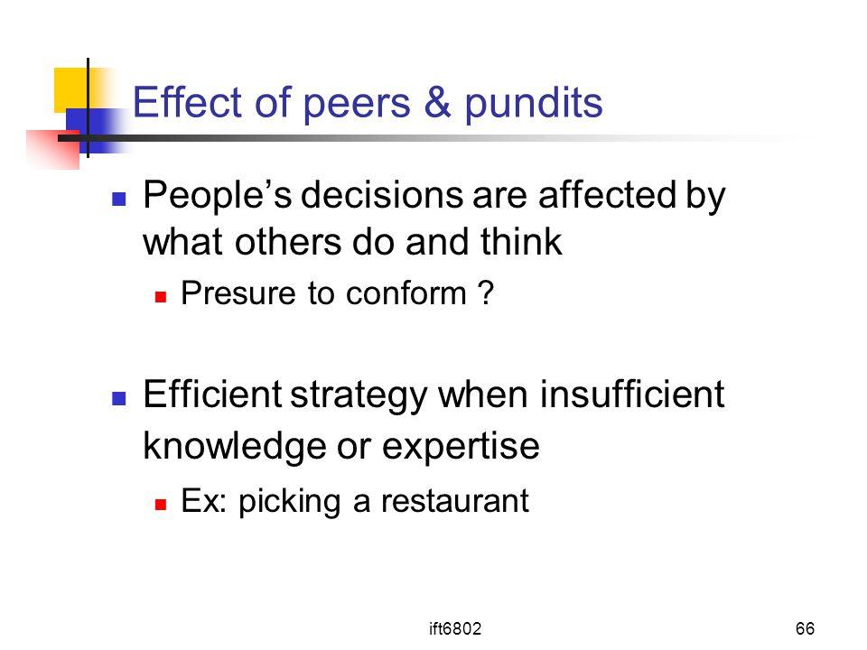 Effect of peers & pundits