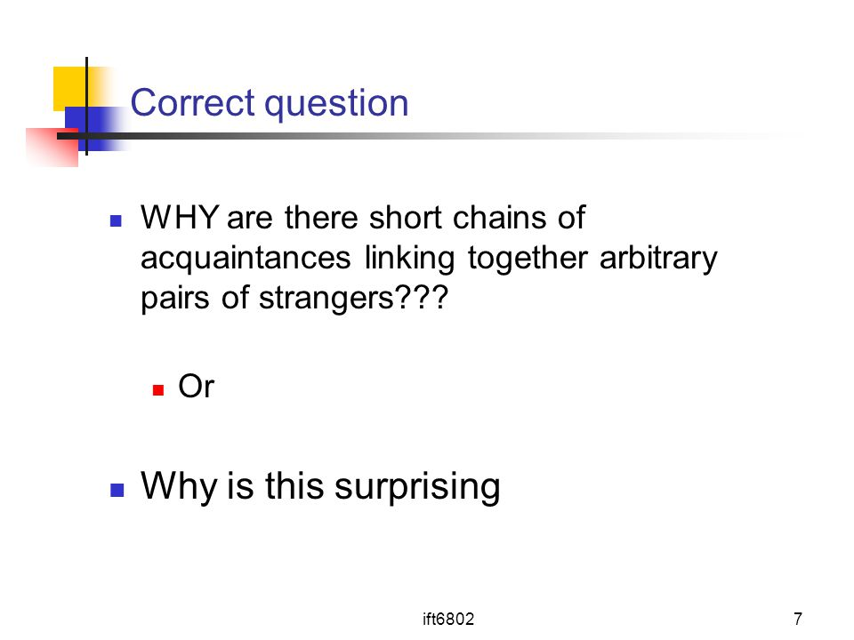 Correct question Why is this surprising