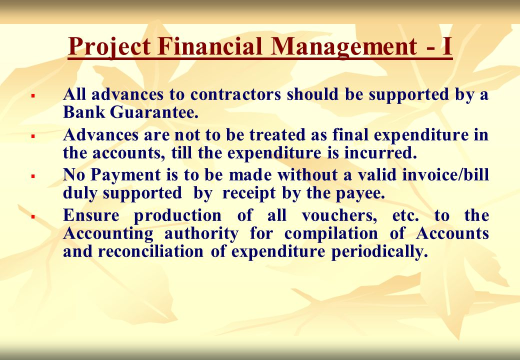 Project Financial Management - I