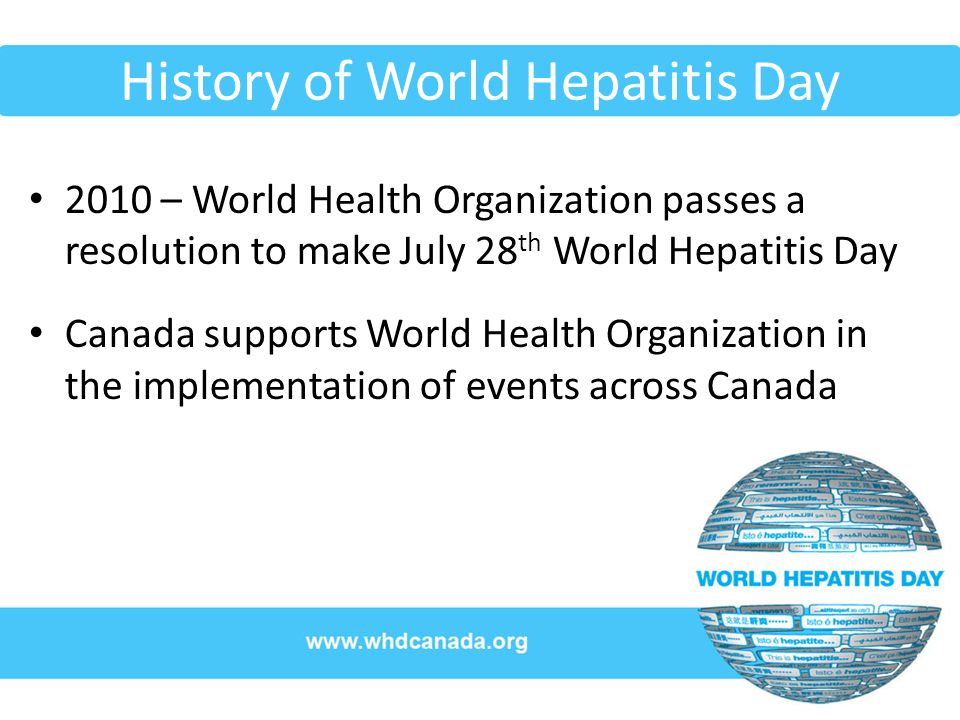 History of World Hepatitis Day
