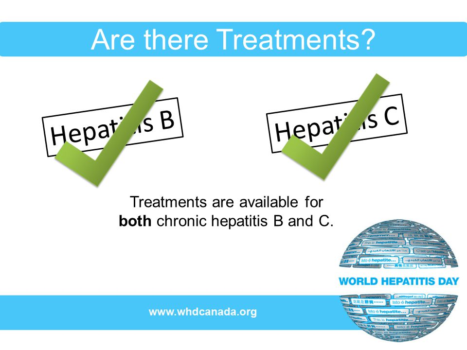Treatments are available for both chronic hepatitis B and C.