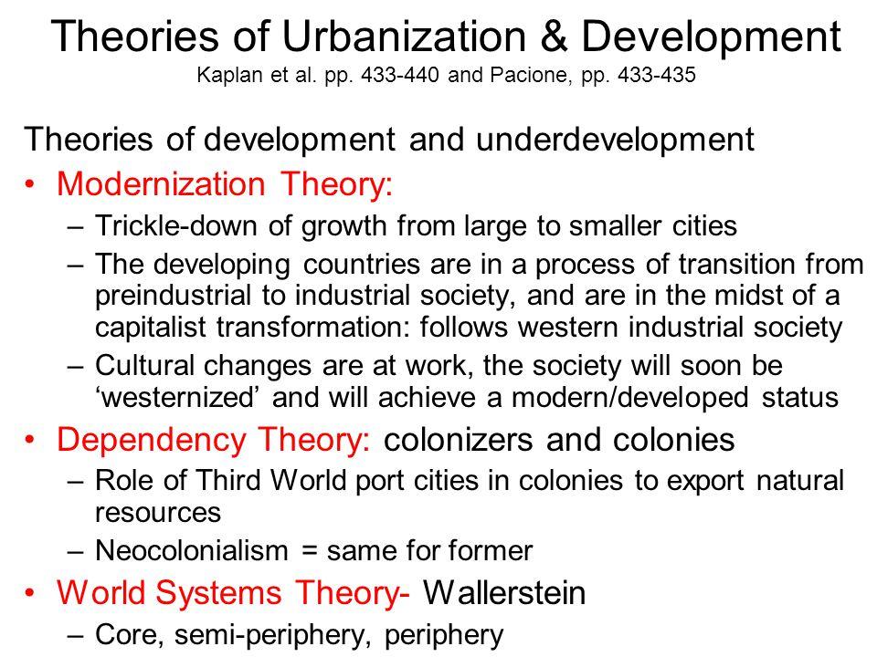 Theories of Urbanization & Development Kaplan et al. pp