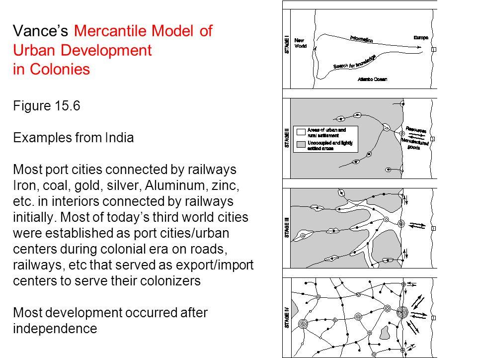 Vance's Mercantile Model of Urban Development in Colonies Figure 15