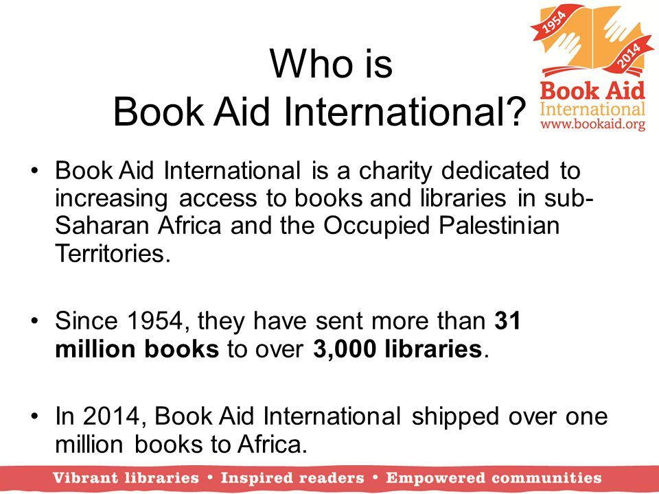 Who is Book Aid International