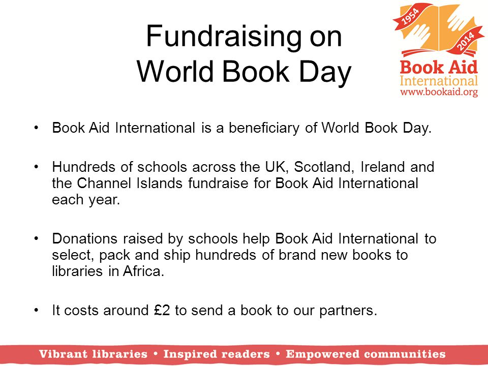 Fundraising on World Book Day