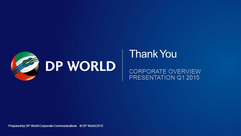 Thank You Corporate overview presentation q1 2015 OK