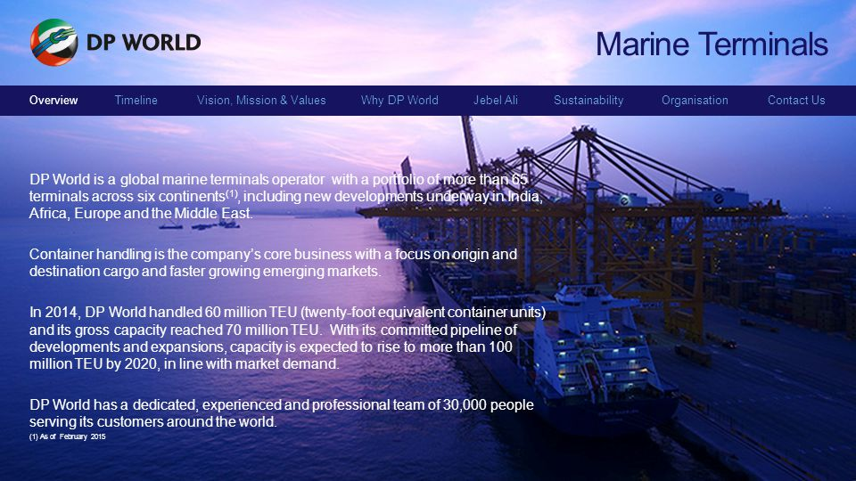 Marine Terminals Overview.
