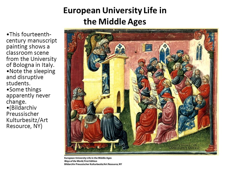 European University Life in the Middle Ages