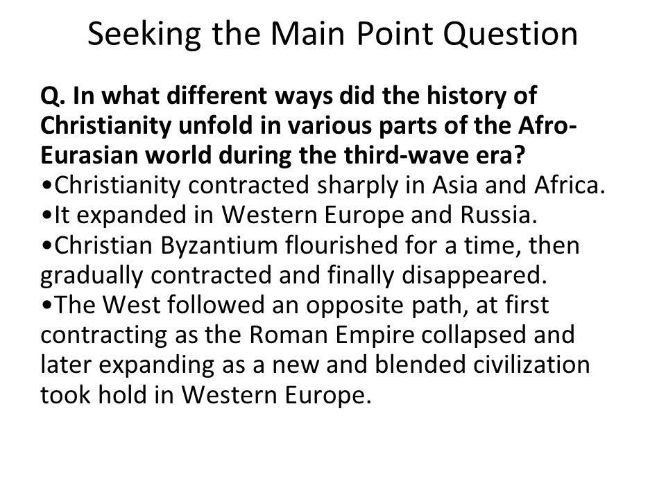 Seeking the Main Point Question