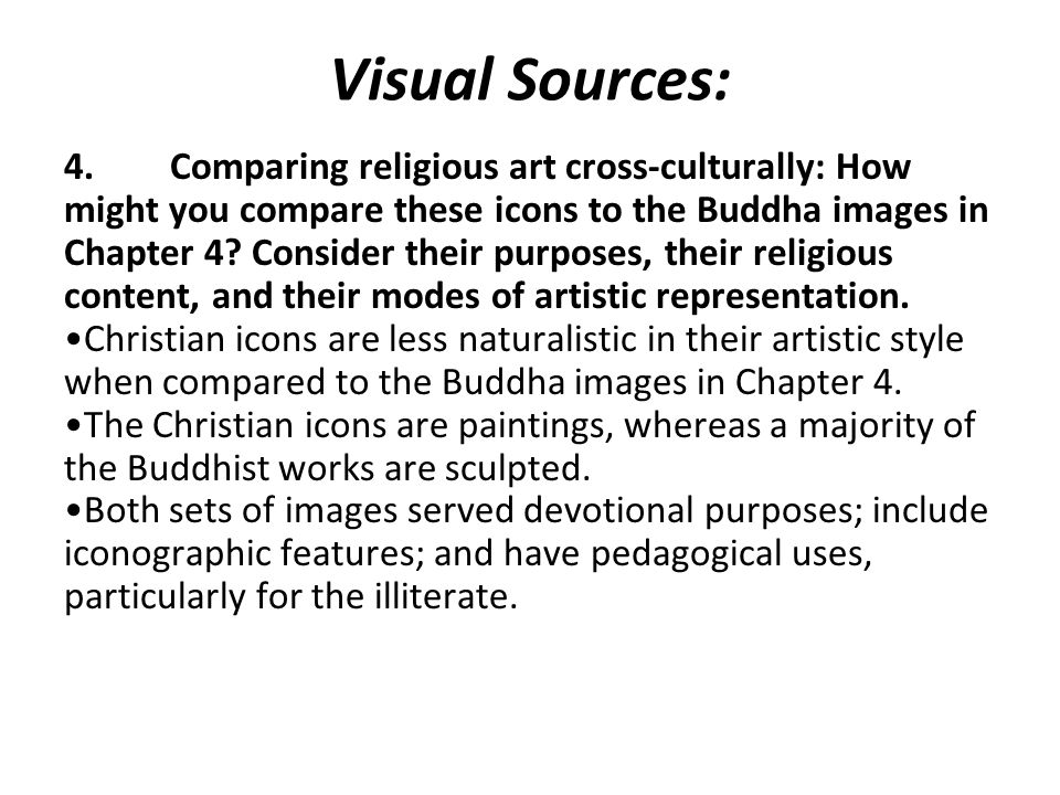 Visual Sources: