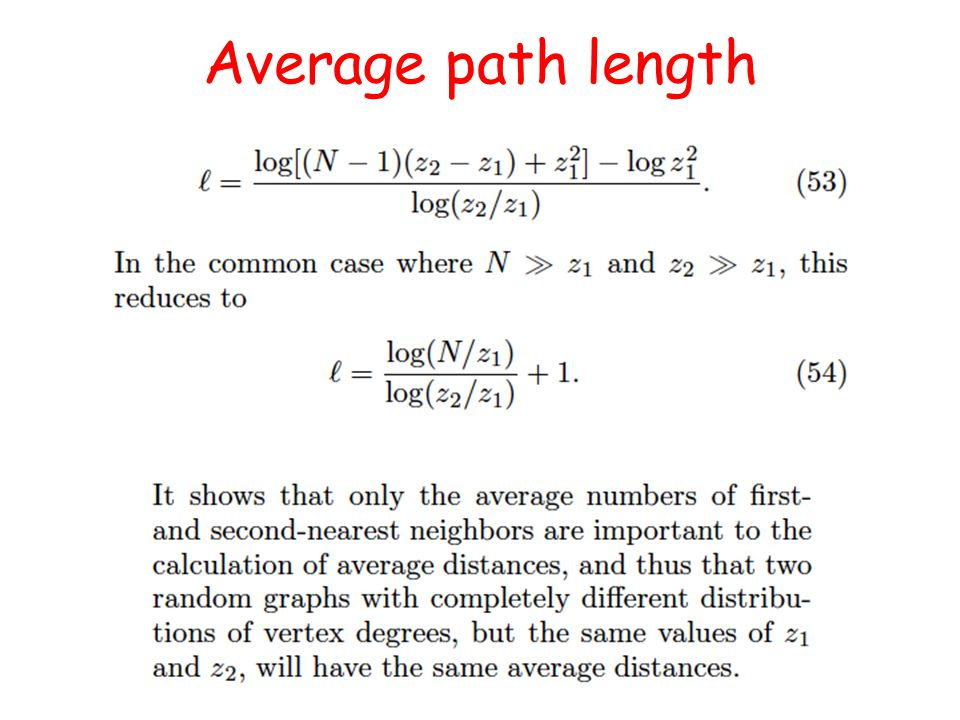 Average path length