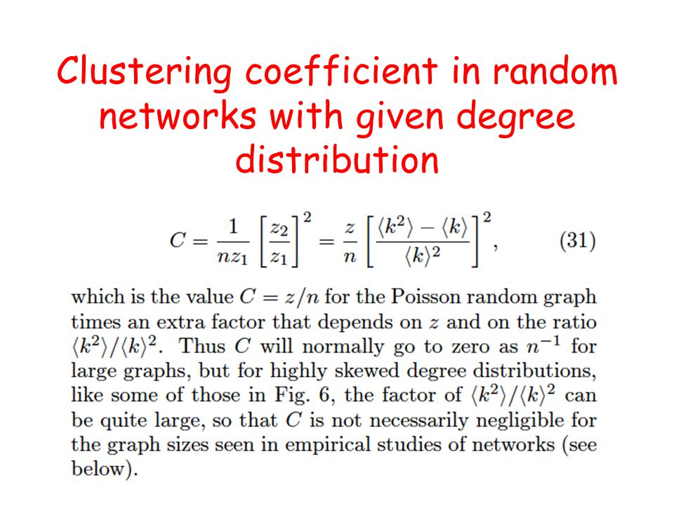 Clustering coefficient in random networks with given degree distribution