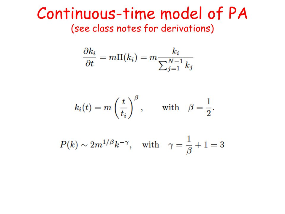 Continuous-time model of PA (see class notes for derivations)