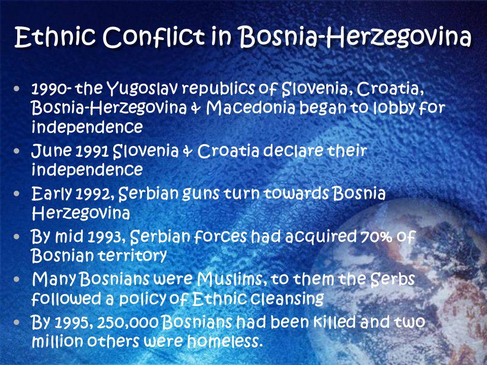 Ethnic Conflict in Bosnia-Herzegovina