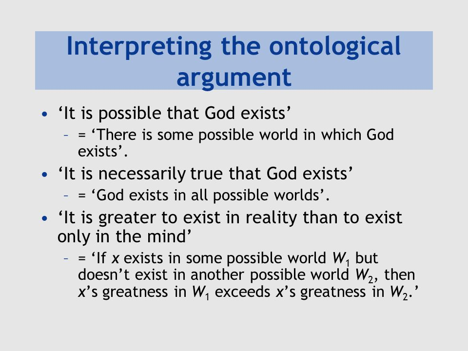 The ontological argument as proposed by