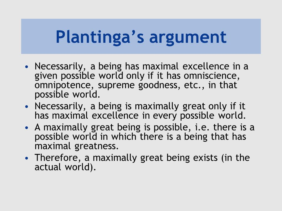 ontological argument thesis An explanation of st anselm's ontological argument for the existence of god.
