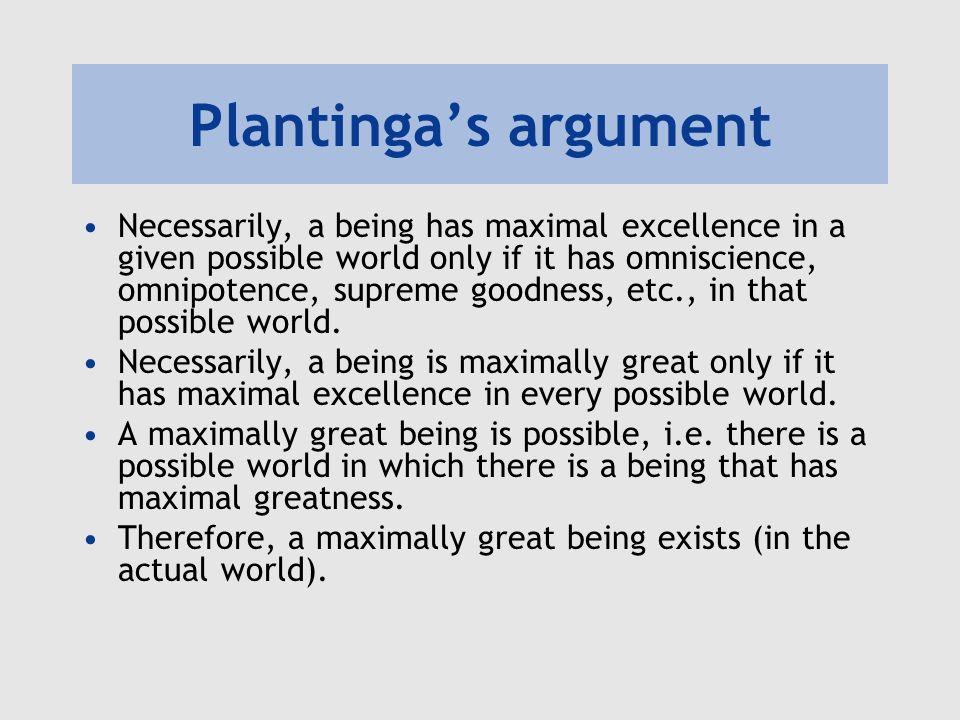 Plantinga's argument