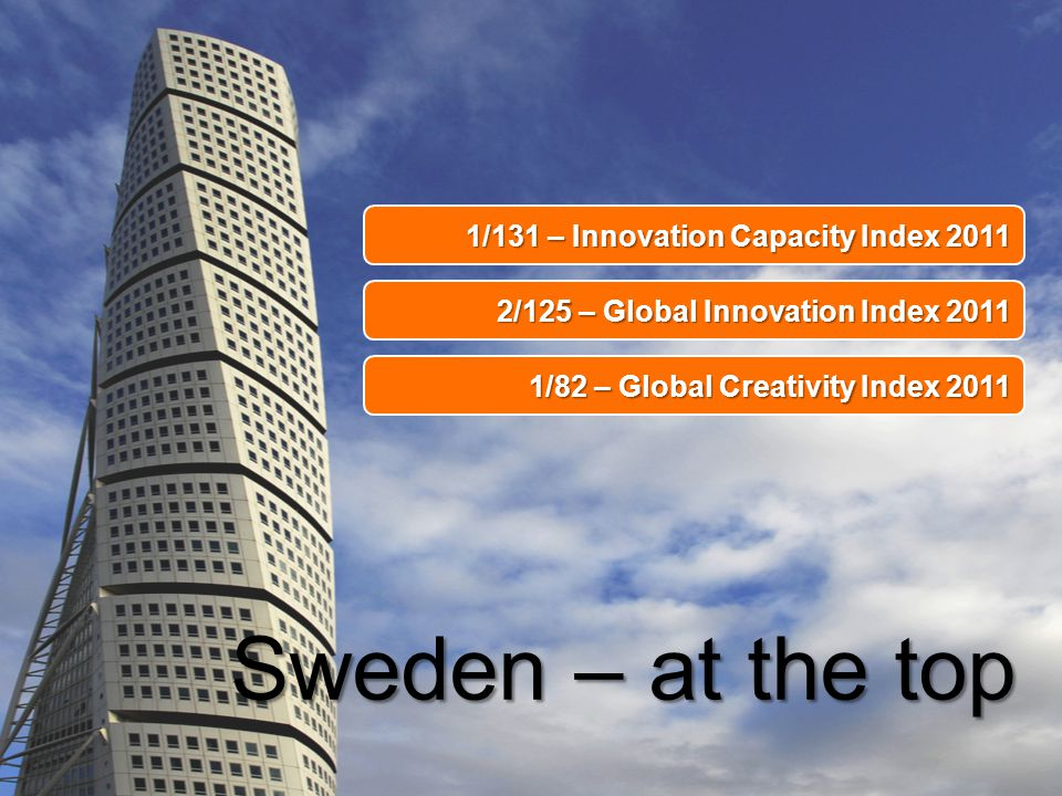 Sweden – at the top 1/131 – Innovation Capacity Index 2011