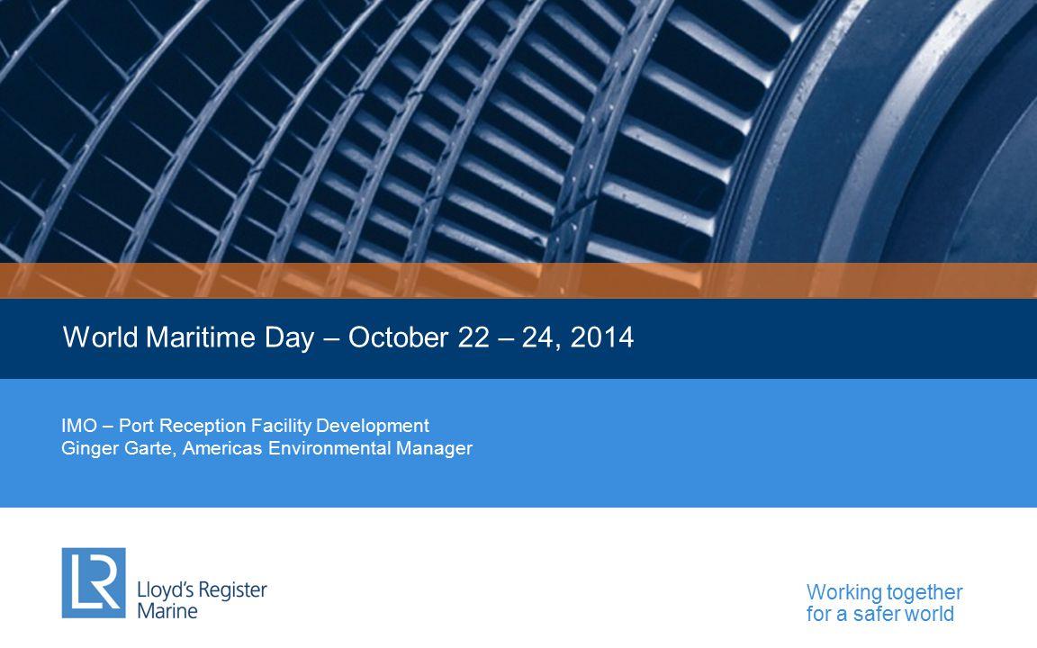 World Maritime Day – October 22 – 24, 2014