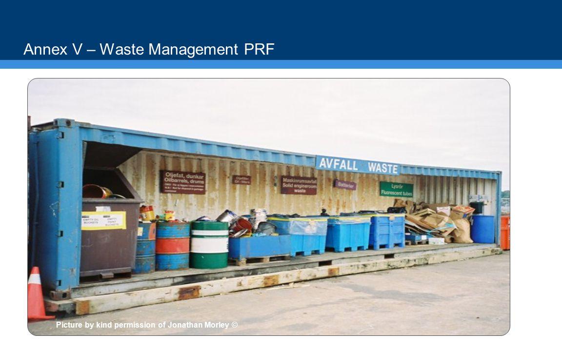 Annex V – Waste Management PRF