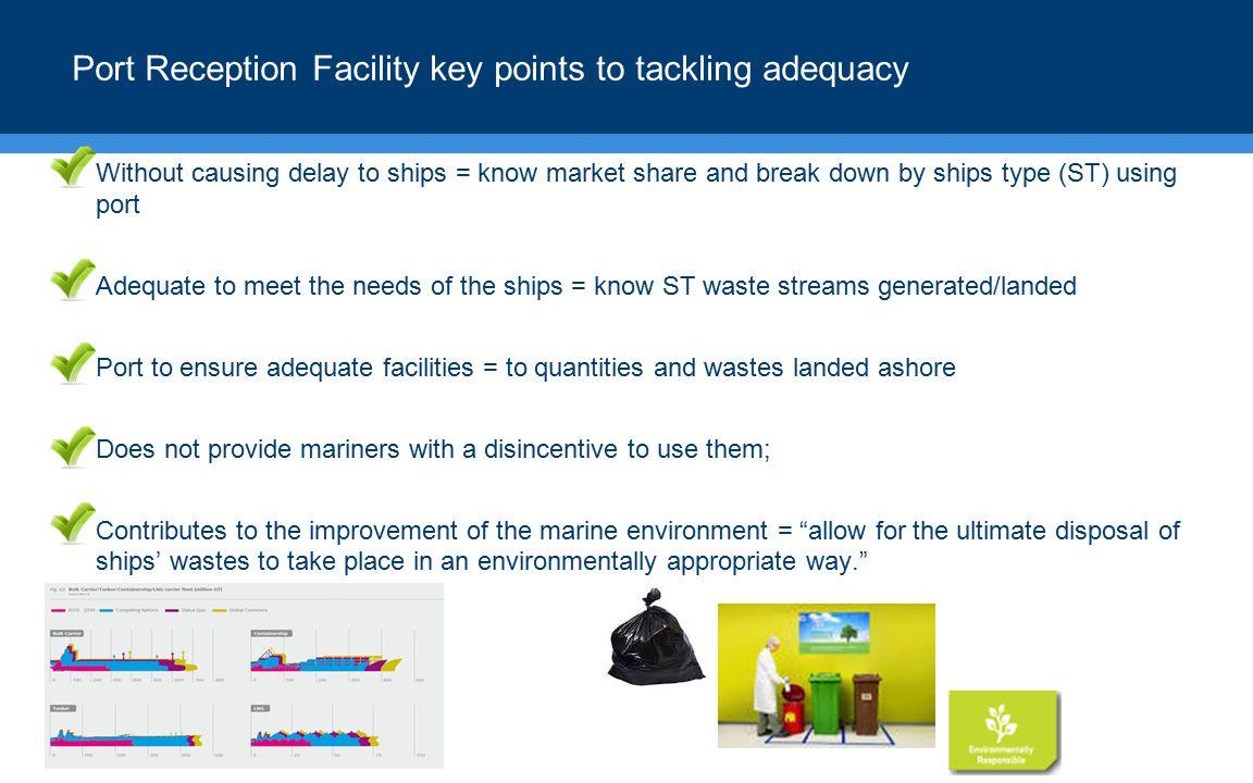 Port Reception Facility key points to tackling adequacy