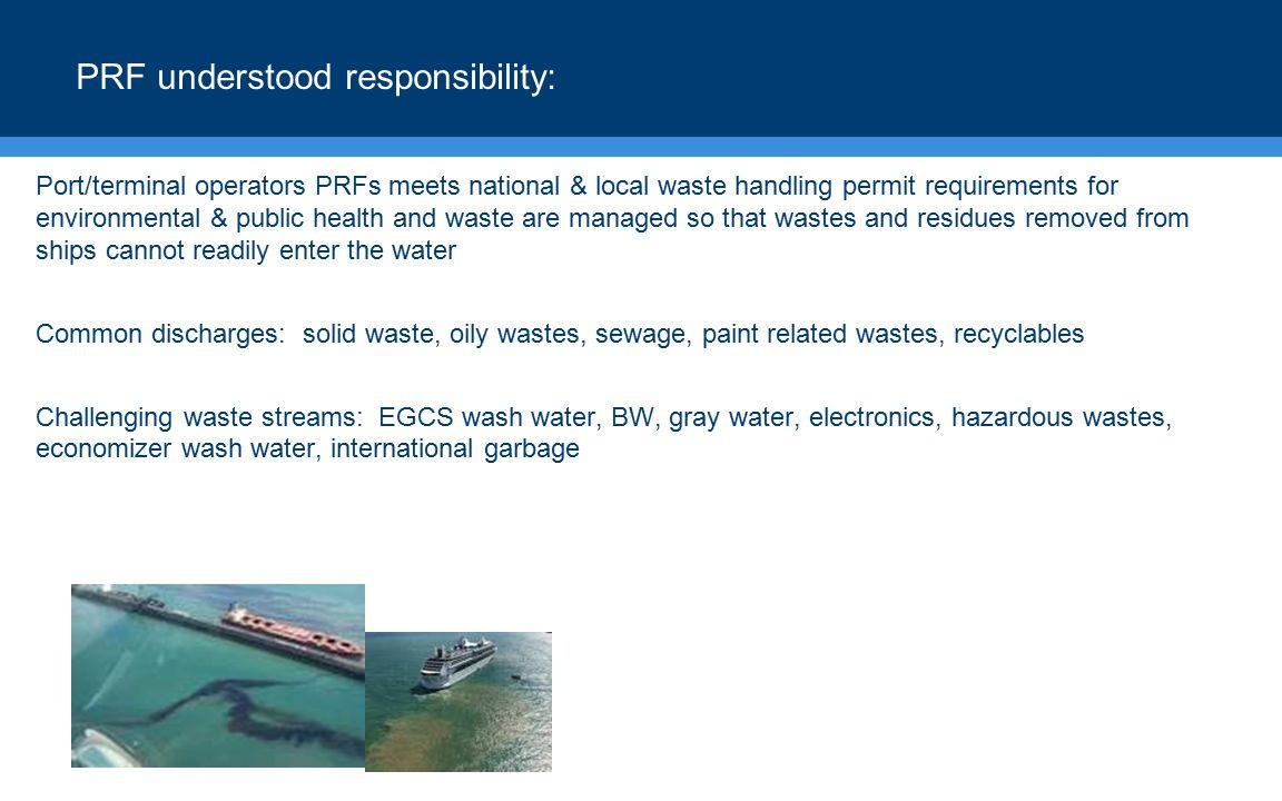 PRF understood responsibility: