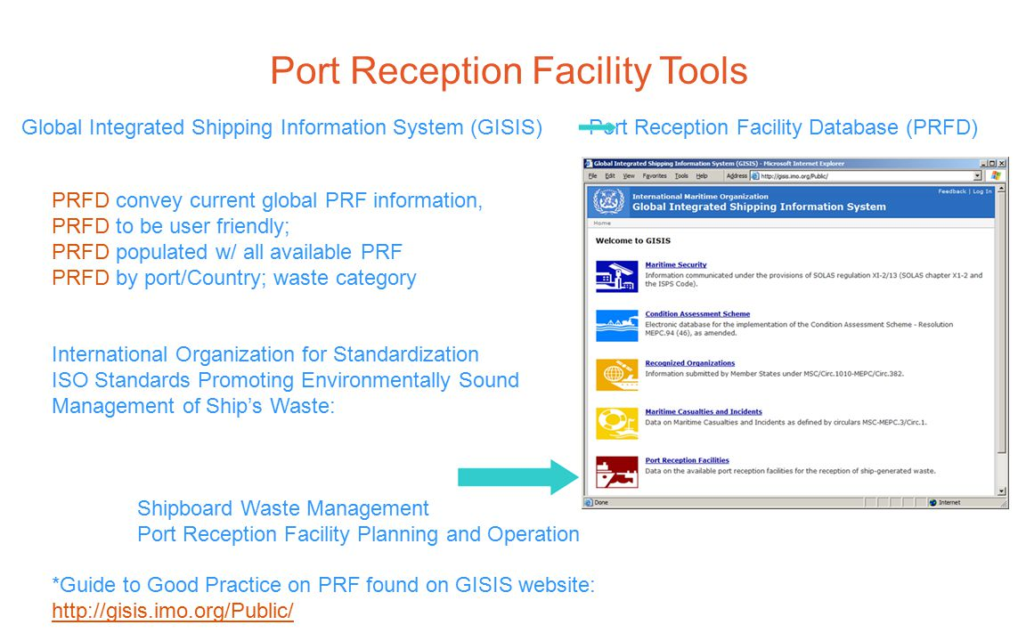 Port Reception Facility Tools