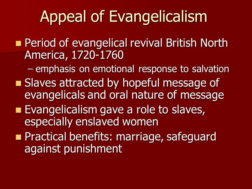 Appeal of Evangelicalism