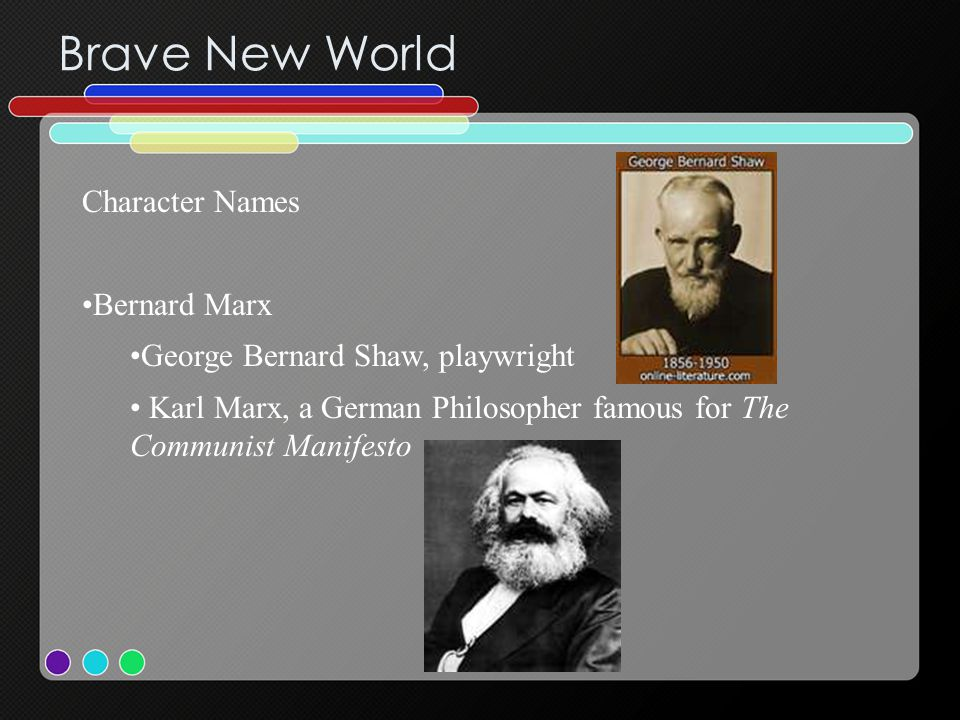 Brave New World Character Names Bernard Marx