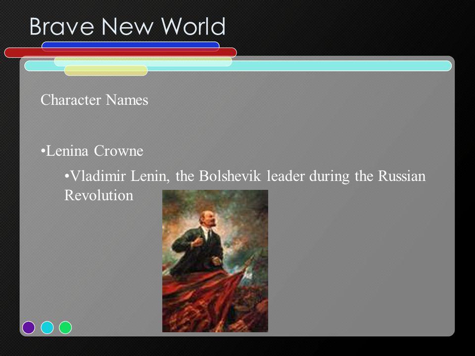 Brave New World Character Names Lenina Crowne