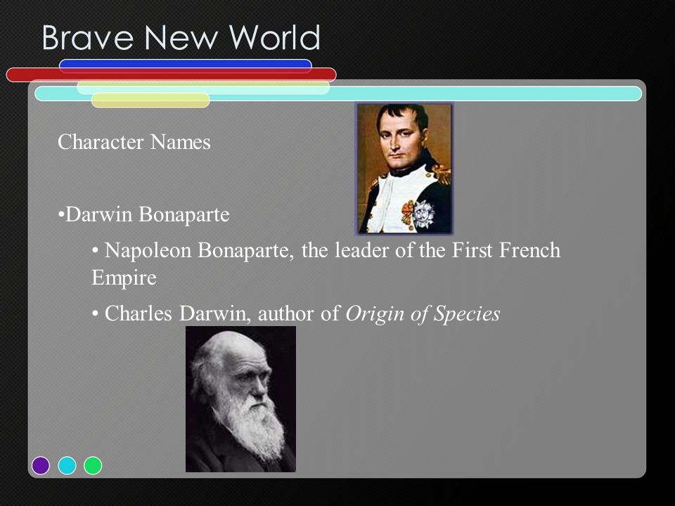 Brave New World Character Names Darwin Bonaparte