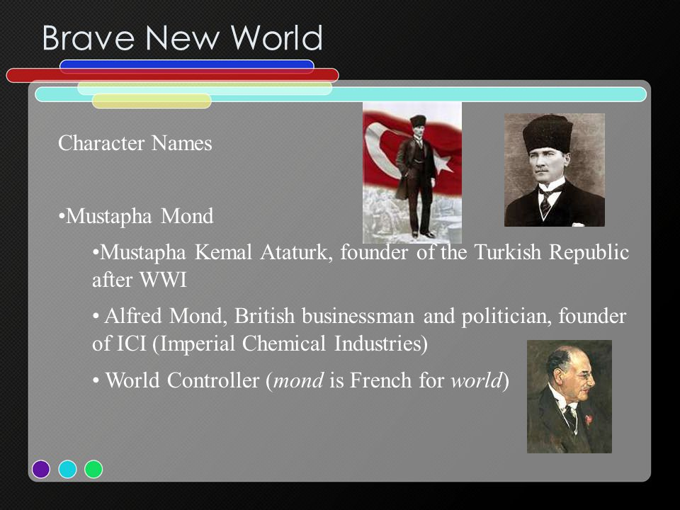 Brave New World Character Names Mustapha Mond